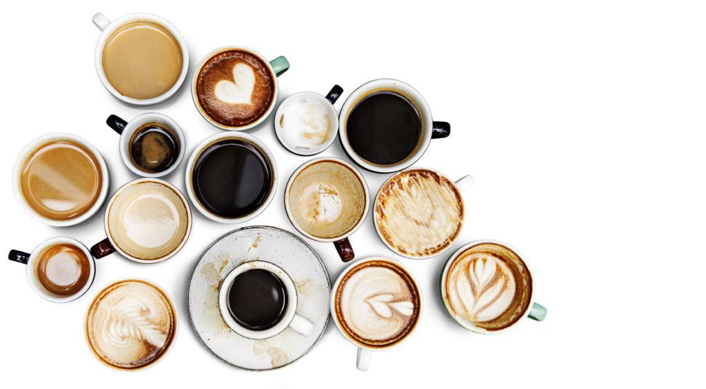 muchas tazas de café